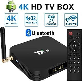 TV Box Nueva Ultra HD Android 9.0 TV Box 4GB RAM 32GB ROM Dual WiFi 2.4GHz / 5GHz Bluetooth Quad Core 64Bit 3D / 4K Full HD / H.265 / USB 3.0 Smart Android Box TV Box