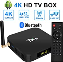$59 » ZHENREN Android TV Box, TX6 Newest Android 9.0 TV Box 4GB RAM 32GB ROM, Dual-WiFi 2.4GHz/5GHz Bluetooth Quad Core 64 Bits 3D/4K Full HD/H.265/USB3.0 Smart Android Box TV Box