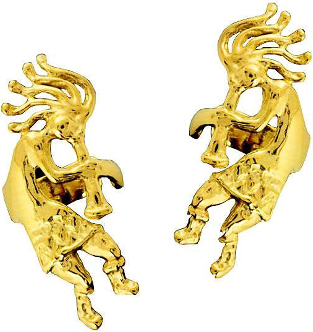 14kt Gold Vermeil Left And Right Kokopelli Long-awaited Cuff National products Ear Wra Musician