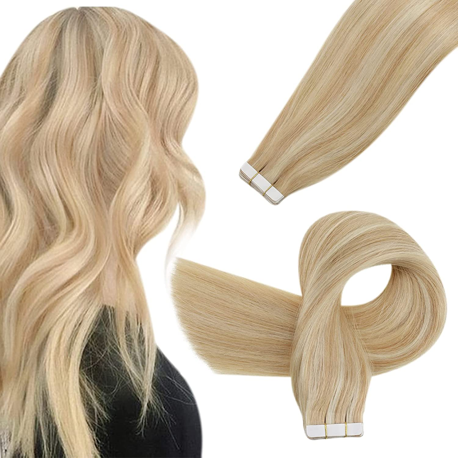 Easyouth Ranking TOP14 Human Hair Washington Mall Tape in Extensions 22 Inch In Remy Real