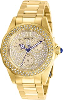 Invicta Women's Angel Quartz Watch with Stainless Steel Strap, Gold, 18 (Model: 28435)