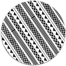 Cool Geometric Anti-slip Coral Velvet Round Area Rugs Memory Foam Floor Carpets Mats 15.75 Inch Diameter Bedroom Rug Yoga ...