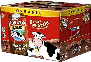 Horizon Organic UHT Chocolate Milk Boxes, 1% Single Serve, 8 Oz, 12 Count (4 Cases(Pack of 12))