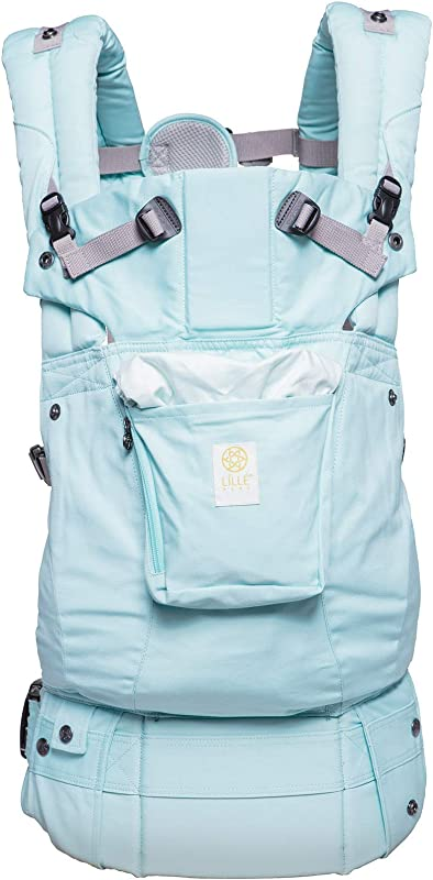 L LL Baby The Complete Organi Touch SIX Position 360 Ergonomic Baby Child Carrier Sea Glass Green Organic Cotton Baby Carrier