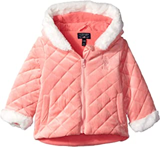 U.S. Polo Assn. Baby Girls Quilted Terry Fleece Jacket