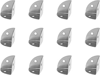 BCP 12PCS Silver Color Metal Case Box Cabinet Corner Protectors Guards