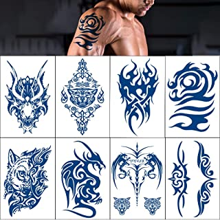 Temporary Tattoo Stickers Tribal Totem Semi Permanent Tattoos. Applies in 30-50 seconds. Lasts 1-2 Weeks Inkbox Tattoos (P...