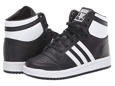 adidas Originals Kids Top Ten Hi (Little Kid) (Black/White/Black) Kids Shoes