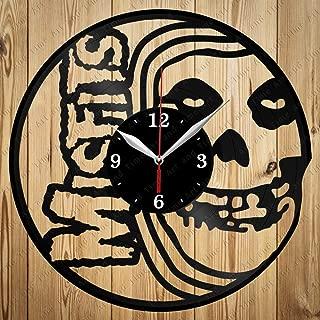 Misfits Vinyl Clock Art Decor Home Wall Clock Black Original Gift Unique Design