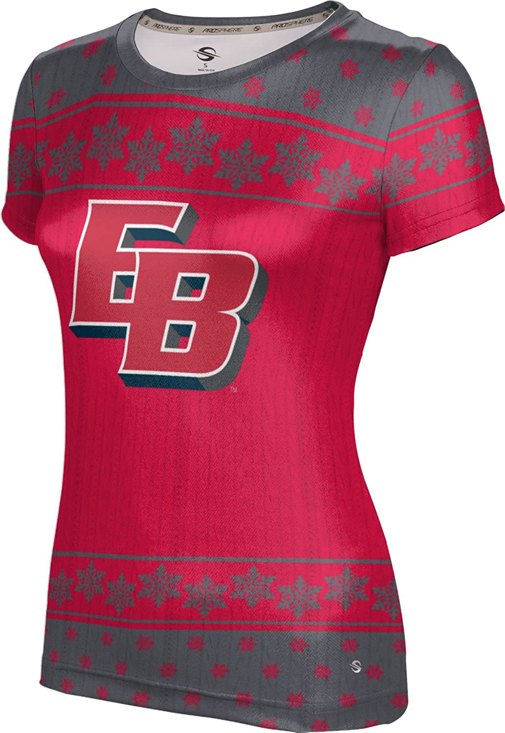 California State University East Bay Ugly Holiday Girls' Performance T-Shirt (Snowflake)