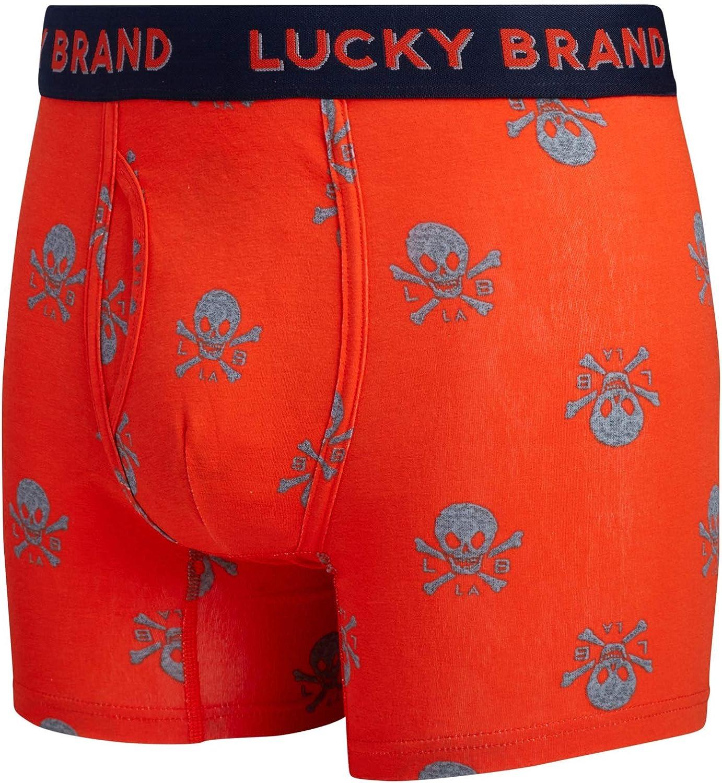 Lucky Brand Men's Underwear - Cotton Blend Stretch Boxer Briefs (6 Pack)