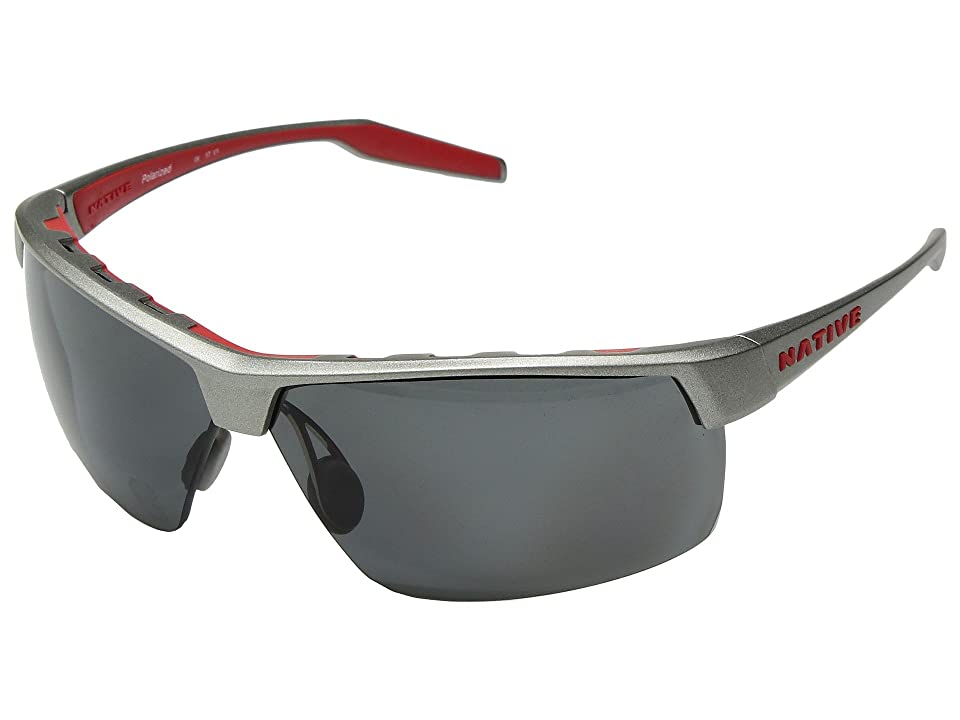 Native Eyewear Hardtop Ultra XP (Platinum/Gray Polarized Lens) Sport Sunglasses
