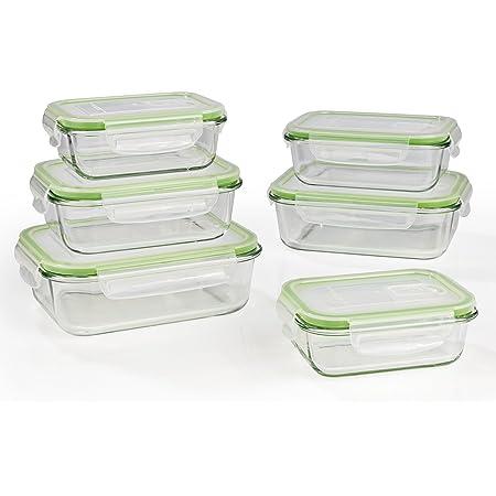 Perfetta conservazione dellaroma degli Alimenti GOURMETmaxx Set di 36 contenitori per Alimenti Senza BPA e con Coperchio Incluso Chiusura a Scatto a 4 Pieghe e Guarnizione in Silicone