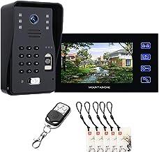 Video Deurbel, Vingerafdruk Wachtwoord RFID Video Deurtelefoon Home Surveillance, Intercom, Nachtzicht Beveiligingscamera ...