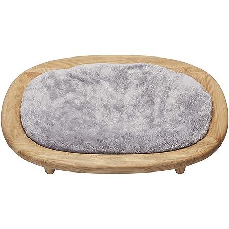 KARIMOKU CAT BED カリモク家具 日本製 猫用ベッド 木製 洗える 安定構造 (グレー&ピュアオーク)