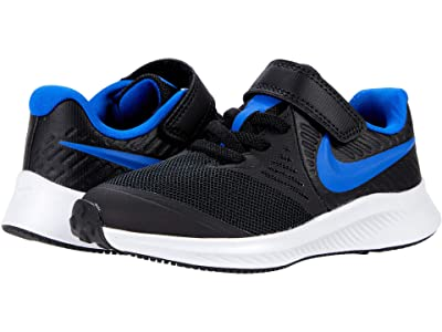 Nike Kids Star Runner 2 (Little Kid) (Black/Game Royal/White) Kids Shoes