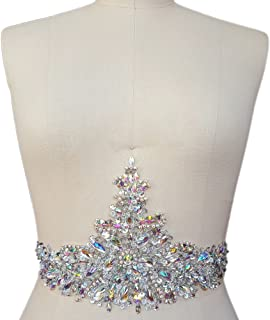 New Exquisite Pure Handmade AB Colour Bright Crystal Patches Sew-on Rhinestones Applique with...
