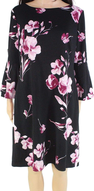 Lauren by Ralph Lauren Women's Floral-Print Bell Sleeve Dress