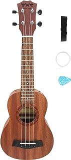 BWS Ukulele Spruce Sapele Ukulele Ukelele Set with Strap,Pick,and Extra Strings (SOPRANO)
