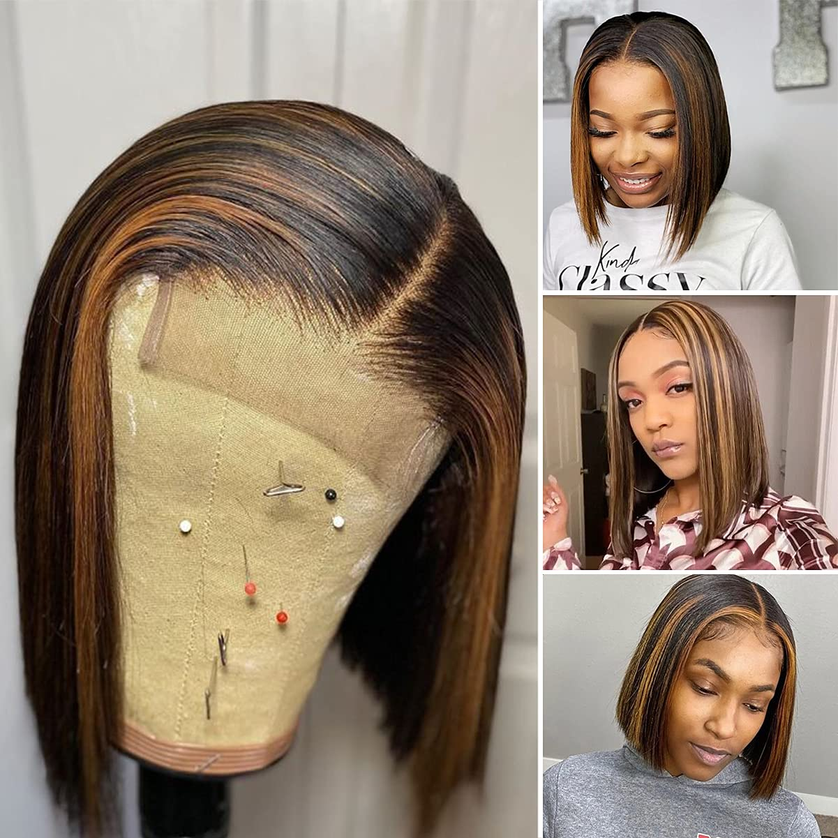 Highlight Ombre Blonde Lace Seasonal Wrap Introduction Front Human Black Wome El Paso Mall Hair Wigs for