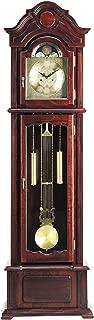 "Major-Q 9001402 77"" H Traditional Dark Walnut Finish Standing Grandfather Floor Clock"