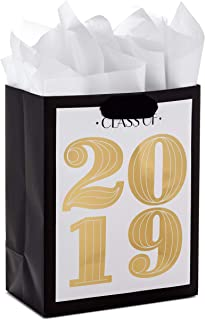 Hallmark Medium Gift Bag with Tissue Paper for Graduations (Gold, Class of 2019)
