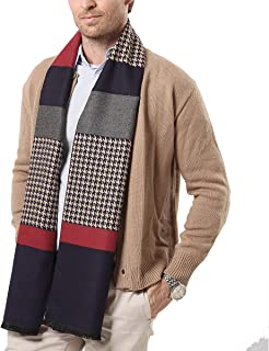 Wiekose Mens Neck Scarf soft and warm with gift box