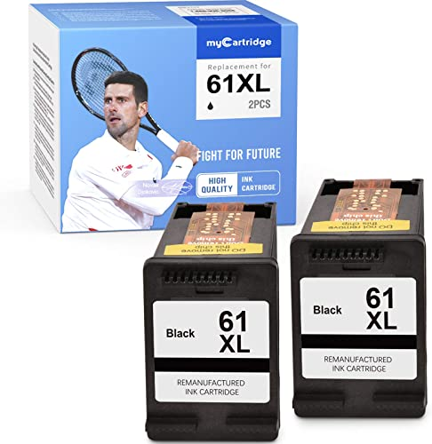 new arrival myCartridge Remanufactured Ink Cartridge Replacement for 2021 Hp 61 61XL (2 Black) Envy 4500 discount 5531 5530 Deskjet 1010 3050A 1056 3510 2540 OfficeJet 4635 4630 4632 Printer outlet online sale