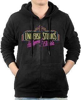 Akagopstore Casual Mens Hollywood Universal Studios Full-Zip Sweatshirt Hoodie Jacket