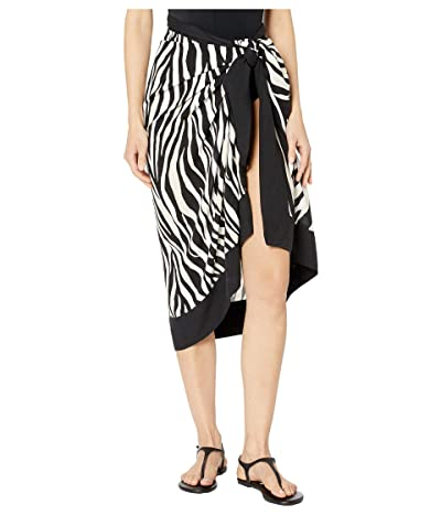 La Blanca Abstract Zebra Pareo Cover-Up (Black/Cream) Women