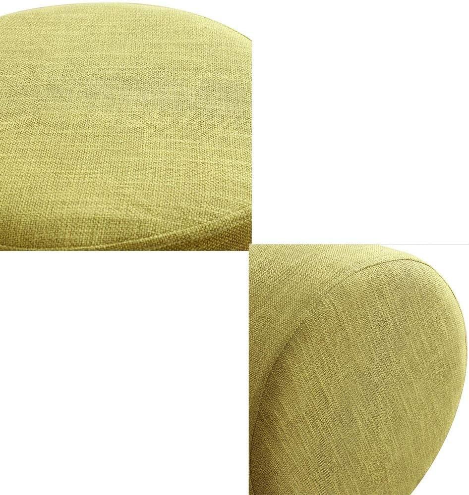 DALL Poufs Et Repose-Pieds Jambes en Bois Massif Moderne Banc De Chaussures Rembourrés Tabouret Canapé Couverture Amovible en Lin Le Salon (Color : Gray 2) Green
