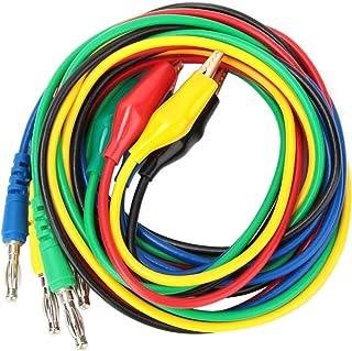P1042 4 mm sonde meetsnoer kabel, banaanstekker naar 10 mm aligator clip adapter geschikt voor oscilloscoop testen elektro...