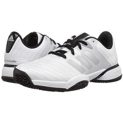 adidas Kids Barricade Tennis (Little Kid/Big Kid) (White/Silver/Black) Kid