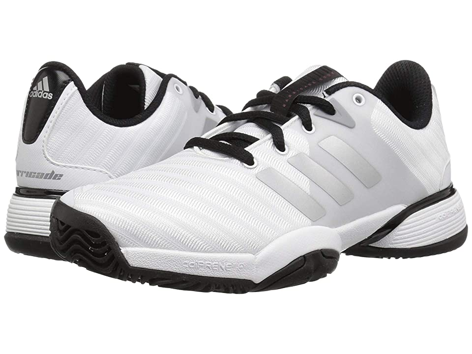 adidas Kids Barricade Tennis (Little Kid/Big Kid) (White/Silver/Black) Kid