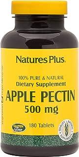 NaturesPlus Apple Pectin - 500 mg, 180 Vegetarian Tablets - Natural Fiber Supplement - Supports Healthy Digestive Function, Regularity - Hypoallergenic, Gluten-Free, Vegetarian - 180 Servings