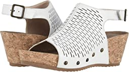 White Accordion Perforated Leather