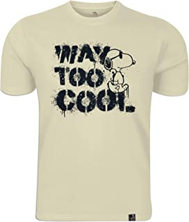 Peanuts: Way Too Cool Men's Round Neck T-shirt Ivory