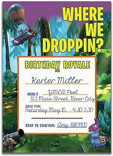 Battle Royale Birthday Party Invitation