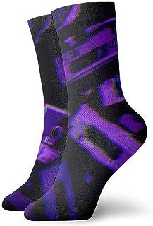 Neon Aesthetic Hombres Mujeres Calcetines cortos 30cm Calcetines clásicos de algodón para yoga Senderismo Ciclismo Correr Fútbol Deportes