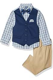 ست 4 تکه پسرانه Nautica با پیراهن لباس ، پاپیون ، جلیقه و شلوار