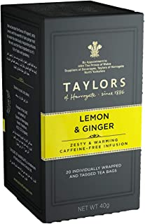 Taylors of Harrogate Lemon & Ginger Herbal Tea, 20 Count