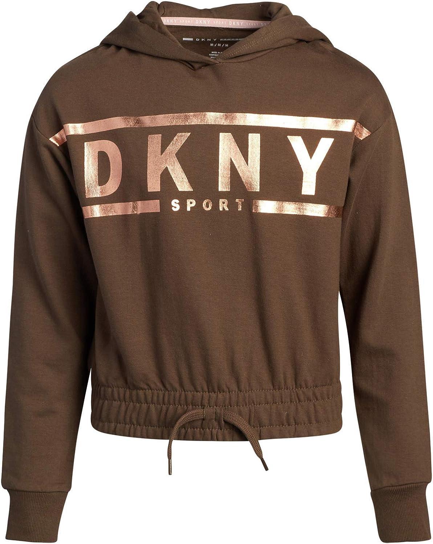 DKNY Girls Sweatshirt - Award-winning store Hoodie Seasonal Wrap Introduction Fleece Pullover