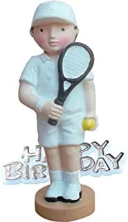 Creative Tennis Player Design Birthday Party Cake Topper