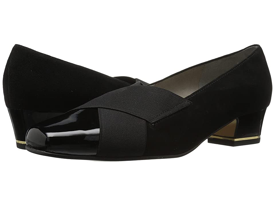 ara Gina (Black Suede/Patent) Women