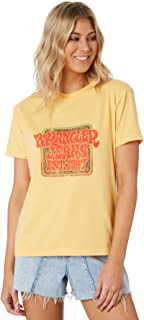 Wrangler Women's Down Time Tee Crew Neck Short Sleeve Soft Yellow