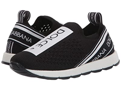 Dolce & Gabbana Kids Snk Slip-On Maglina T.S+Elas.S (Toddler/Little Kid) (Nero/Bianco) Kid