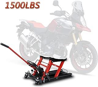 F2C 1500 LB Hydraulic Motorcycle/ATV Jack Lift Hoist Jacks Repair Bike Auto Hoists (1500 LB)