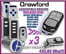 3 x CRAWFORD EA433 2KM mikro / CRAWFORD EA433 2KS / CRAWFORD EA433 4KS / CRAWFORD RCU 433-2 / CRAWFORD RCU 433-4 / CRAWFOR...