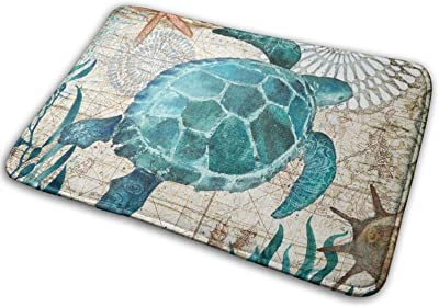 Sea Turtle Large Doormats, Non Slip Durable Washable Home Decorative Door Mats Rugs for Entrance Bedroom Bathroom Kitchen, 23 X 16 Inches