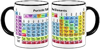 Funny Mugs Periodic Table of The Elements - Gift Mug + Black Rim & Handle
